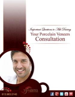 porcelain veneers brochure for Dr. Barakat